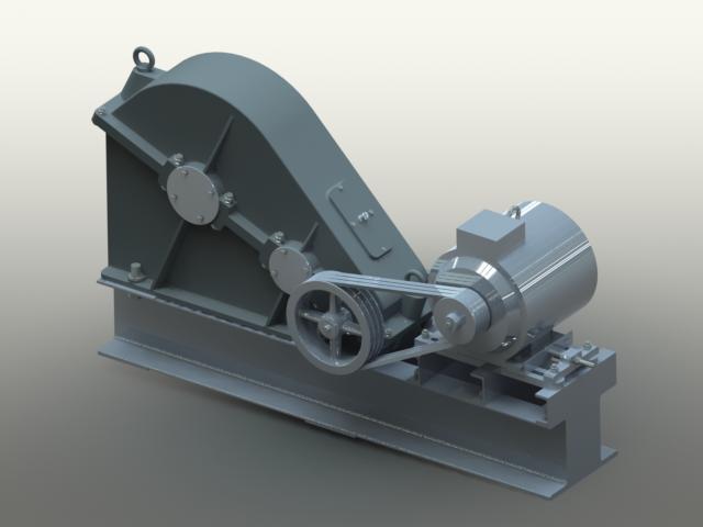 3d модель редуктора, выполненная в solidworks